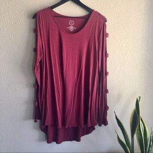 Maurices | Long sleeve cutout top